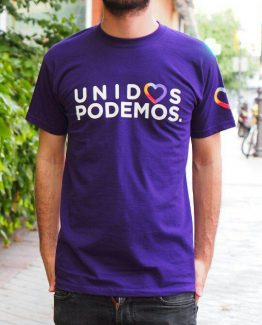 Camiseta morada hombre Unidos Podemos