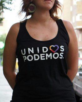 Camiseta tirantes negra mujer tirantes Unidos PodemosCamiseta mujer negra Unidos Podemos